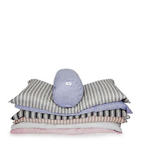 Hedgehouse - stack of linen throwbeds, made in US