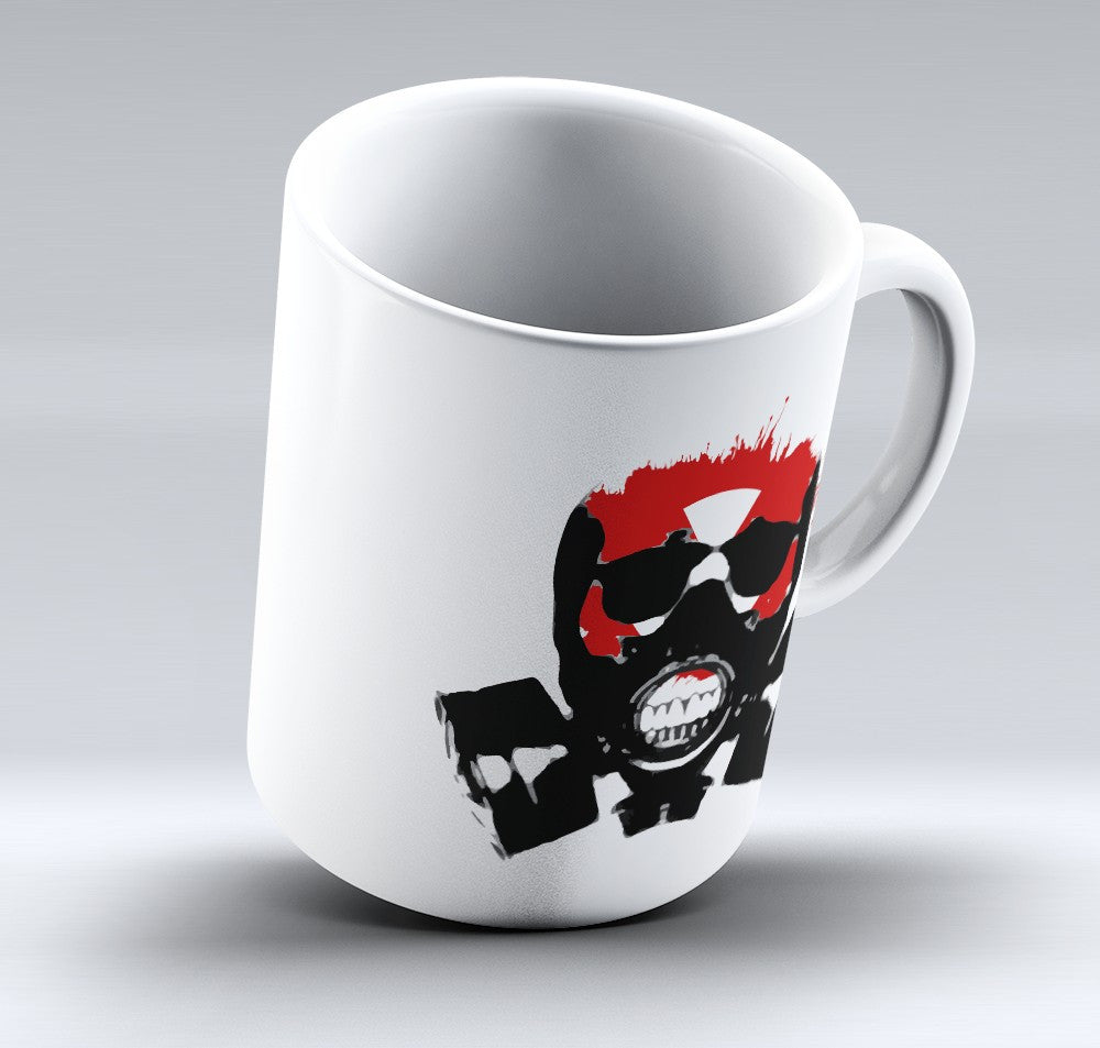 Limited Edition Halloween Mug - Gas Mask - 11oz - Halloween Mugs - Mugdom Coffee Mugs