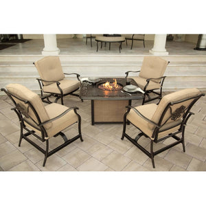 Hammond Adams 5pc fire pit table set ADAMS5PCFP - M&K Grills