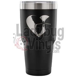 Butterfly Heart 30oz Tumbler - LadybugVinyls