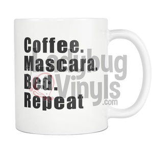 Coffee Mascara Bed Repeat 11Oz Mug Drinkware