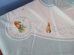 HTF Unused Pottery Barn Peter Rabbit Flopsy Bunnies Novelty Vintage Printed Tablecloth