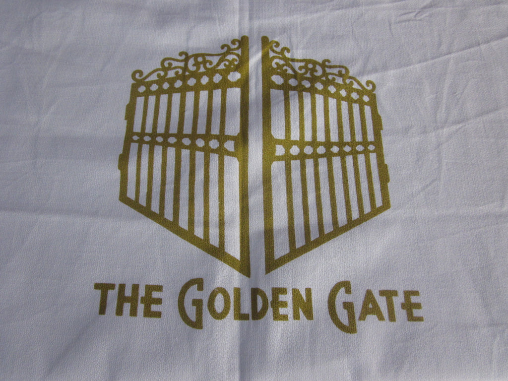 Golden Gate Hotel Las Vegas? Souvenir Vintage Printed Tablecloth (62 X 57)