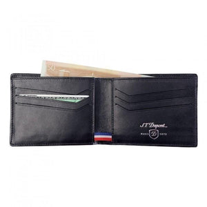 S.T. Dupont Wallet w/ 6 Credit Card Holders - Carbon Fiber Leather - Lighter USA - 2