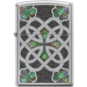 Zippo Lighter - Celtic Trinity Knot High Polish Chrome