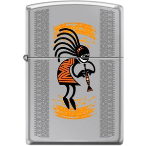 Zippo Lighter - Kokopelli High Polished Chrome