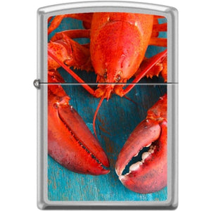 Zippo Lighter - Lobster Satin Chrome