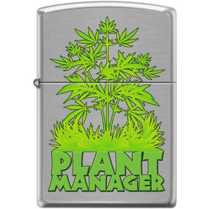 Zippo Lighter - Plant Manager Brushed Chrome