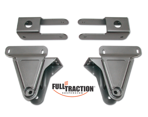 1999-2004 Ford F250/F350 4.5-in Front Spring Hanger Kit Part FTS7645B with Bash Bar ** FREE SHIPPING
