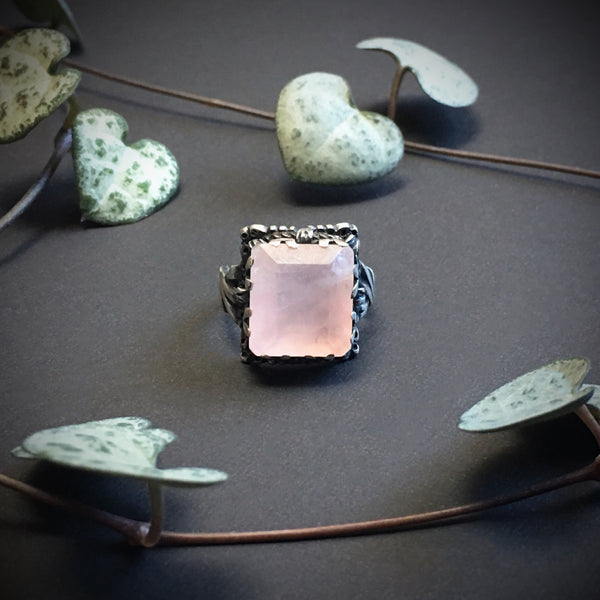 Spirit of Summer Ring - Rose Quartz - Size 4.25 - Ready to Send