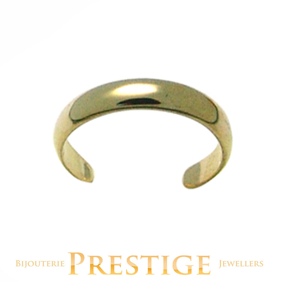 10KT GOLD TOE RING - PLAIN CURVED