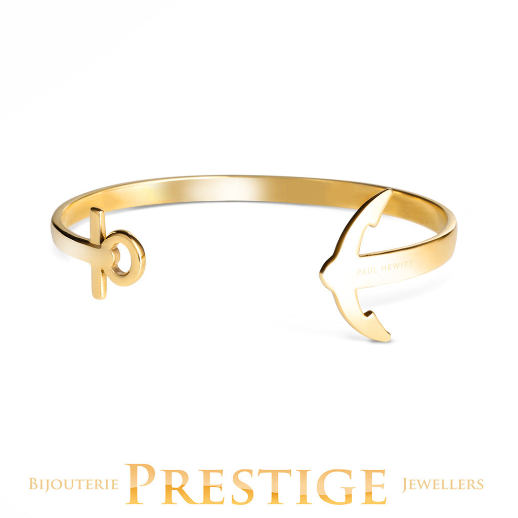 PAUL HEWITT ANCUFF GOLD PLATED BRACELET