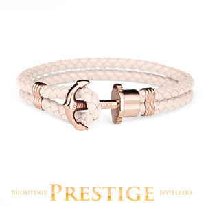 PAUL HEWITT PHREP BRACELET ROSE WITH ROSE ANCHOR