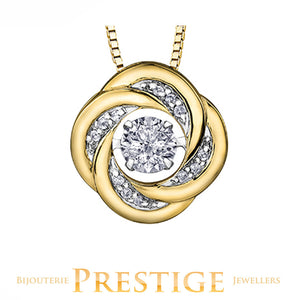 LADIES PULSE DIAMOND PENDANT - 10KT