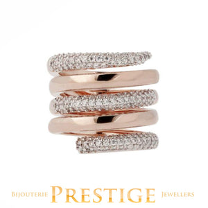 BRONZALLURE ALTISSIMA MULTISTRANDS RING