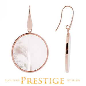BRONZALLURE ALBA PEARL DISC EARRINGS