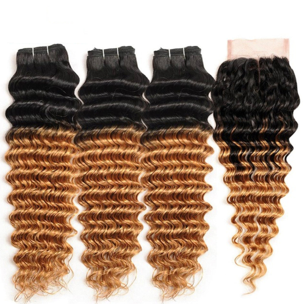 3 Bundles Any Ombre/Color + Closure For $300 ( SPECIAL )