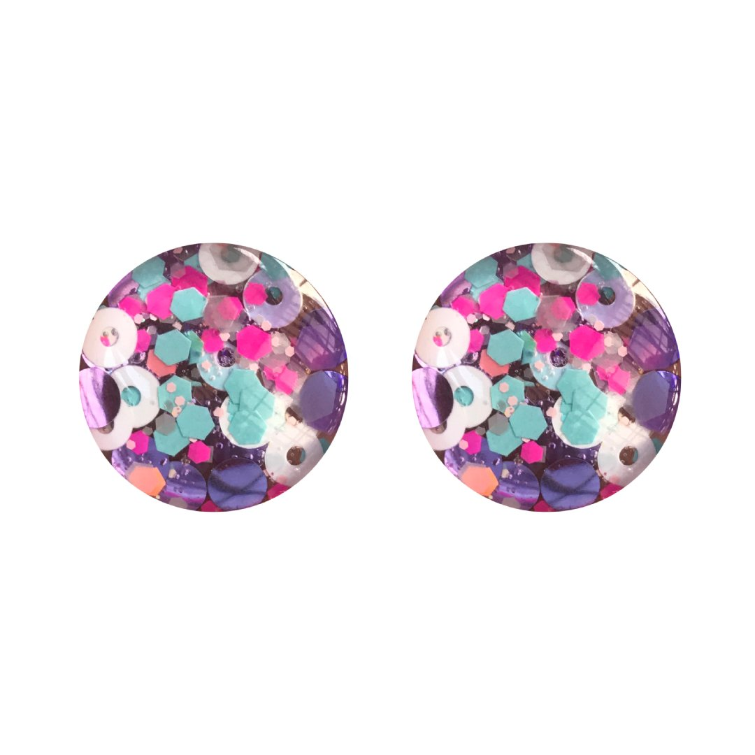 Lady Marmalade Glass Stud Earrings