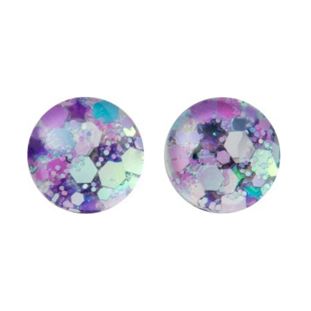 Cotton Candy Glass Stud Earrings