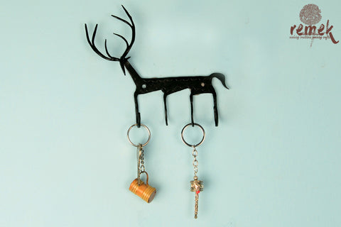Bastar Wrought Iron Key Holder - Deer