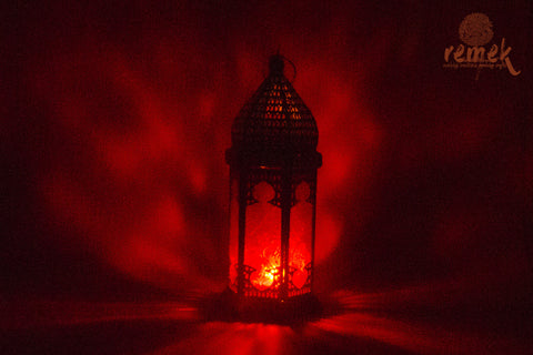 Moroccan Red Lantern