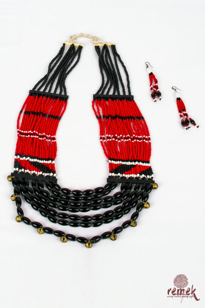 Beads Jewellery - Traditional Red Naga Necklace