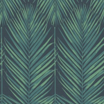 Breezy Leaf Navy and Green