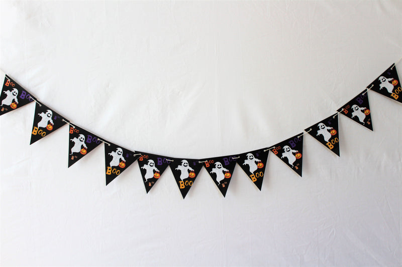 Halloween Cute Ghosts Bunting, Printed on TREE FREE PAPER