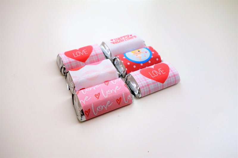 Valentine's Day Tree-free Mini Chocolate Wraps (24/pack, Sugar Cane Stalk Paper)