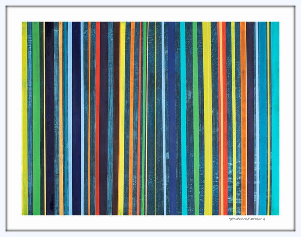 [bright stripes] [limited edition print]