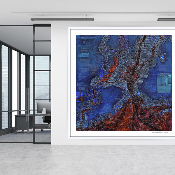 [new york harbor nautical chart 2.0] [limited edition print]
