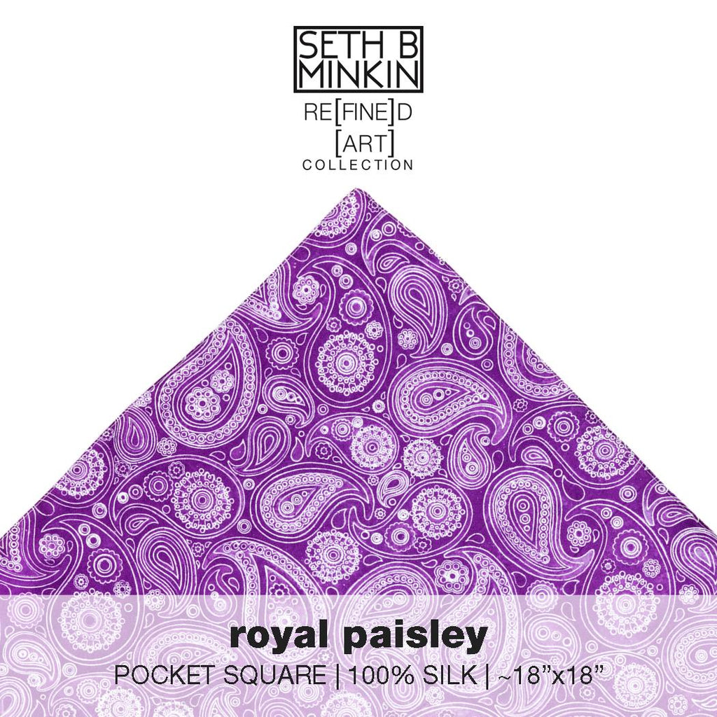 [royal paisley]  [silk square]