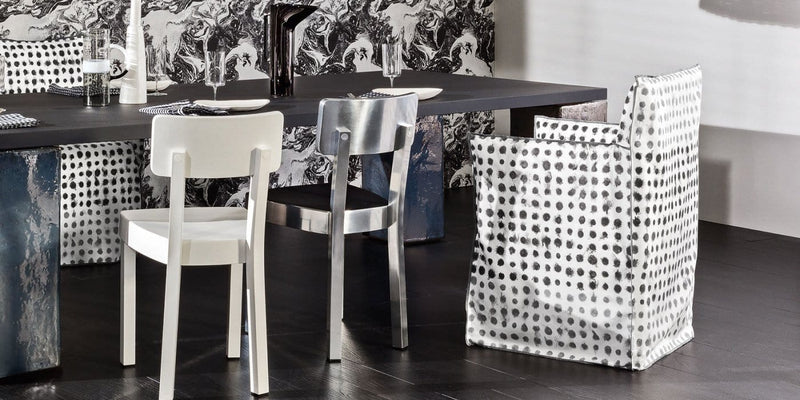 Ghost 24 - Dining Chair with Arms by Gervasoni | JANGEORGe Interior Design