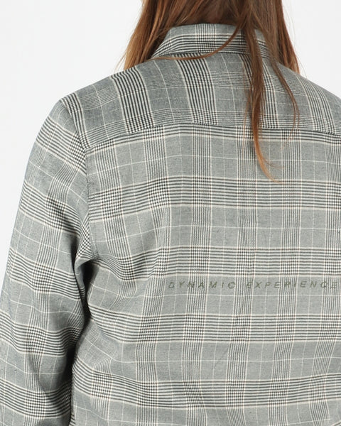 han kjobenhavn_one pocket shirt_grey tweed_4_4