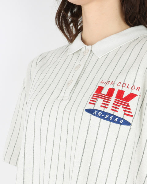 han kjobenhavn_polo dress_pinstripe white_3_3