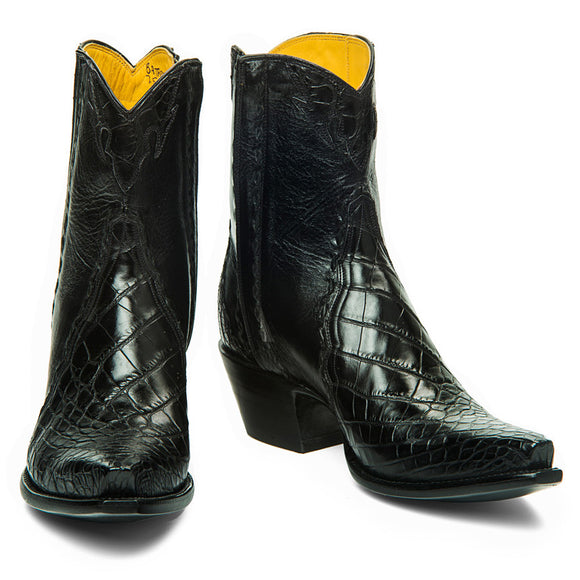 Crocodile/Calf Ankle Zipper - Back at the Ranch