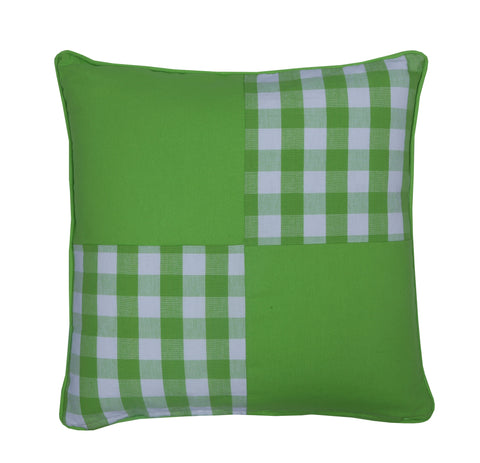 Cushion Cover - Block Check Green Joint