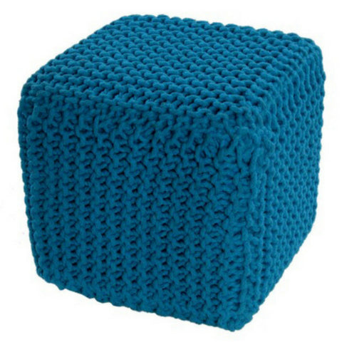 Knitted Cube Blue