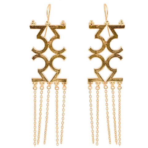 Mathematics Number 9 Earring