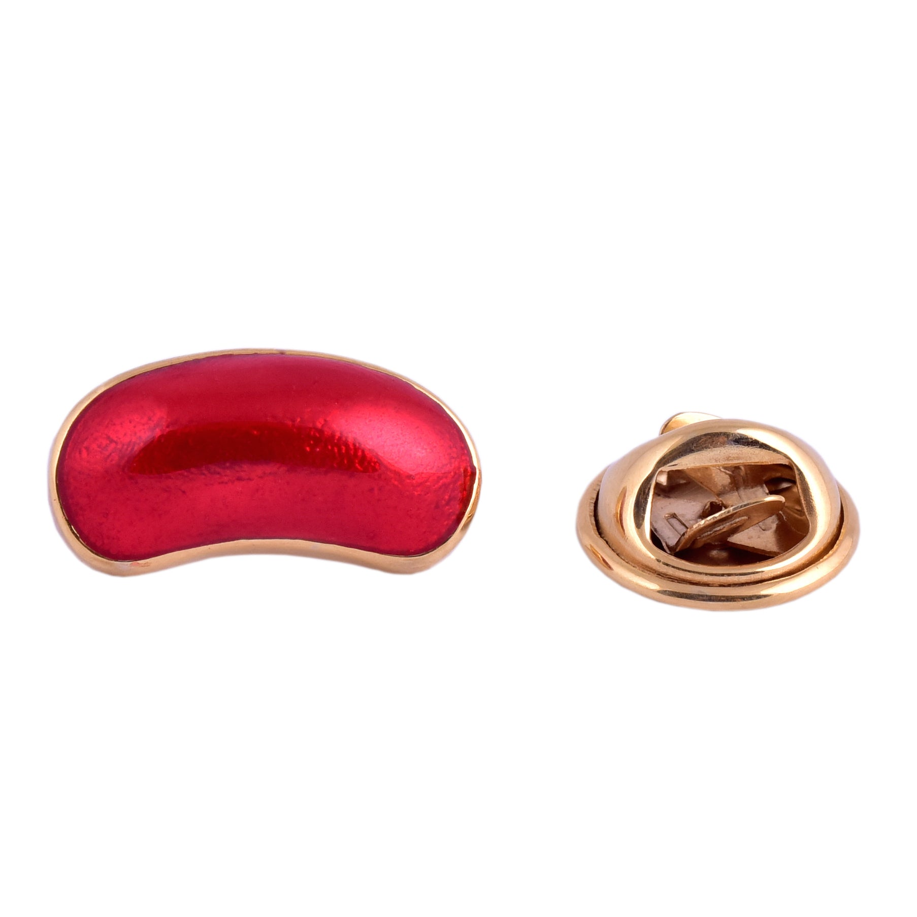 Red Jelly Bean Brooch Pin