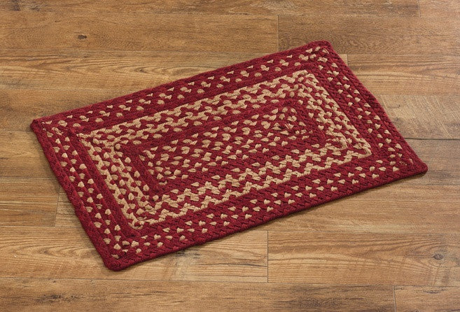 "Winesap 20"" x 30"" Rectangle Braided Rug"