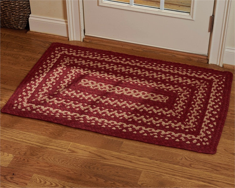 "Winesap 27"" x 45"" Rectangle Braided Rug"