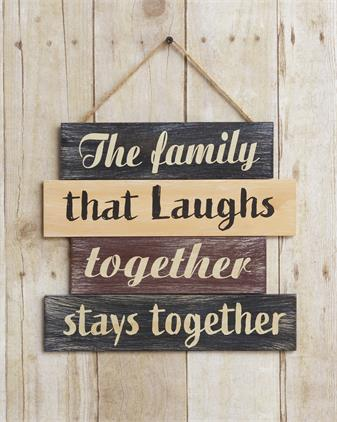 Sign - The Family That Laughs Together