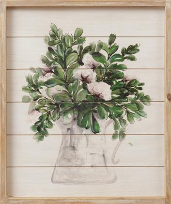 Sign - Cotton In A Vase, Shiplap Look
