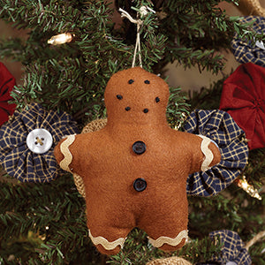 Primitive Gingerbread Boy Ornament