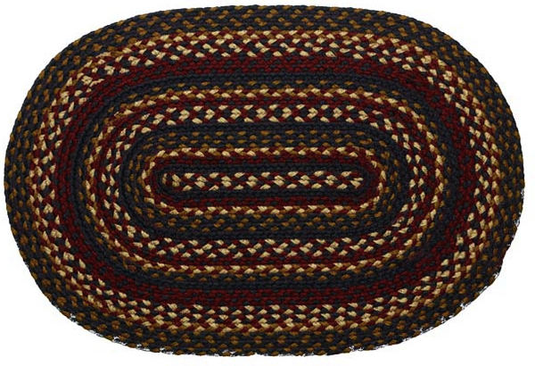 Blueberry Braided Oval Rugs