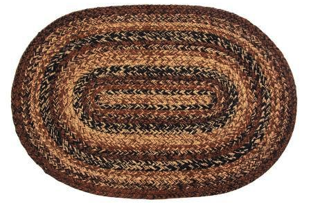 Cappuccino Oval Braided Rugs