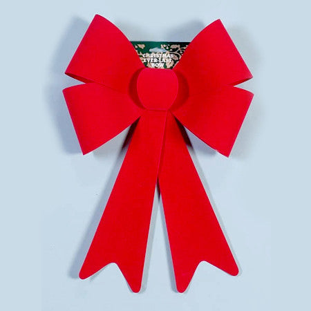 "14""x 20"" Red Flocked Bow 