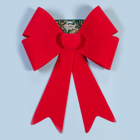 "18""x 24"" Red Flocked Bow 