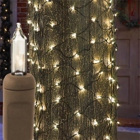 2' x 6' Trunk Wrap - Clear Bulbs - Brown Wire | All American Christmas Co